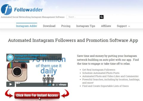 FollowAdder Review - Automated Instagram Followers and Promotion Software App