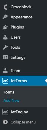 JetFormBuilder- Add a new form
